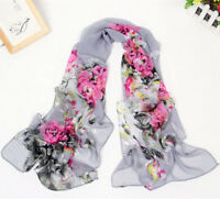 New Fashion Stylish Women Long Soft Silk Chiffon Scarf Wrap Shawl Scarves