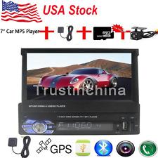 "7"" Single 1 DIN Car Mp5 Player Radio Stereo Head Unit GPS Sat Nav + Map+Camera"