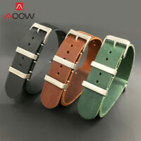 Leather Mens Watch Strap Band For Tissot Citizen Timex Oris Casio Seiko 20mm 22m