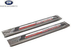 2017-2019 Chevrolet Corvette Grand Sport Door Sill Plates 23279545 Aluminum OEM