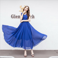 Bohemia Summer Women Ladies Chiffon Casual Long Maxi Party Cocktail Beach Dress