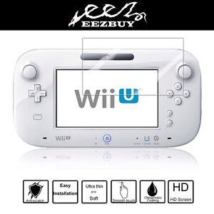 2pcs Clear Screen Protector Film For Nintendo Wii U Gamepad Remote Controller