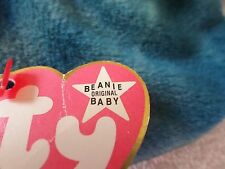 RARE TY BEANIE BABY WHITE STAR PINK HANG TAG STING THE STINGRAY PVC ERRORS