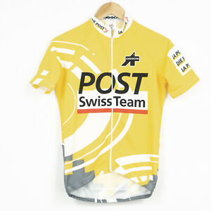 ASSOS POST Swiss Team Cycling Jersey Shirt Yellow Mens Size S