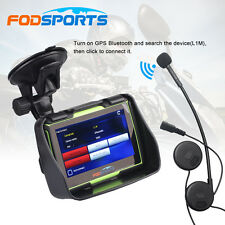 "4.3"" Motorcycle GPS Bluetooth Navigator SAT NAV Touch Screen Waterproof 8GB+Maps"