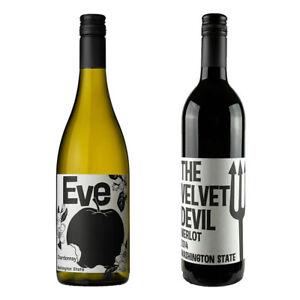 Charles Smith Washington State Pair – Eve Chardonnay & Velvet Devil Merlot