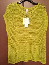 BRAND NEW GRACE ELEMENTS  WOMAN KNIT LIME TOP  BLOUSE  SZ 3X