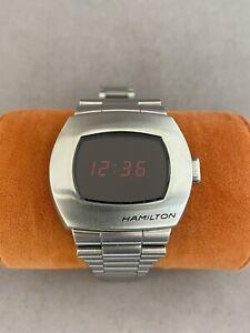 Hamilton American Classic PSR H524140 41mm Digital Stainless Steel Watch(w86)