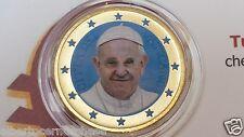 50 euro cent 2015 colorato VATICANO Vatican Vatikan Francesco Francisco François