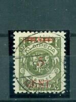 Memel, Aufdruck auf Klapaidamarke, Nr. 174 II gestempelt, geprüft Klein VP