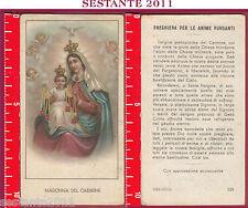 1936 SANTINO HOLY CARD MADONNA DEL CARMINE ED G MI ED. G MI. 123 CARTA OPACA