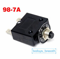 10A Manual Reset Push Button Switch 125//250VAC 32VDC  Thermal Circuit Breaker