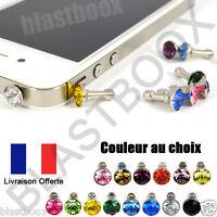 Prise Jack 3.5 mm Bijoux Bouchon Anti Poussière Pour Téléphone Portable