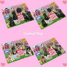 Carnival Kissing Booth Dog Cat Tempered Glass Cutting Board, Pet Lovers Gift