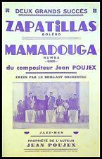 Ancienne Partition, ZAPATILLAS  - MAMADOUGA - JAZZ-MEN - Jean POUJEX