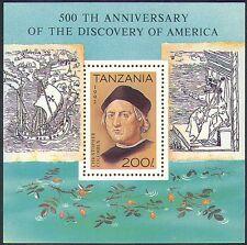 Tanzania 1992 Columbus/barcos/Navegación/exploradores/transporte/personas 1v m/s (b5915)