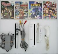 Nintendo Wii Console, White (RVL-001) with GameCube Ports - Cleaned & Tested