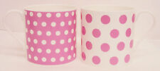 Manchas De Color Rosa Puntos & Set 2 Tazas Porcelana Fina Tazas de gran capacidad Balmoral Rosa