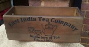EAST INDIA TEA COMPANY wooden storage box. A fab gift hamper or in your kitchen!
