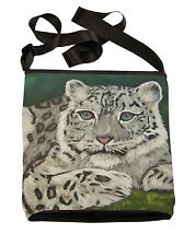 Snow Leopard Large Cross Body Bag - Support  Wildlife Conservation, Read How!