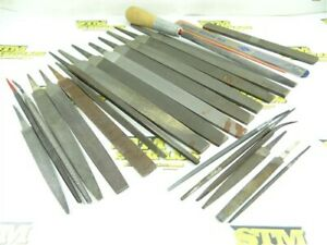 "LOT OF 24 ASST. HSS HAND FILES 4"" TO 10"" FILE LENGTHS NICHOLSON HELLER SIMONDS"