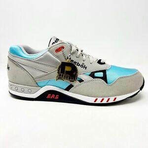 Reebok ERS 2000 Gray Blue Mens Suede Sneakers V55124