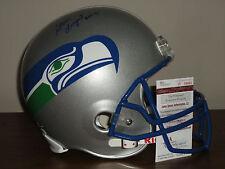 Steve Largent Signed Full Size Seattle Seahawks Football Helmet PROOF JSA Auth