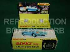 Dinky #157 B. M. W. 2000 Tilux - Reproduction Box by DRRB