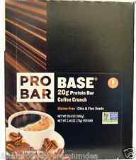 NEW PROBAR BASE PROTEIN BAR COFFEE CRUNCH GLUTEN FREE CHIA & FLAX SEED HEALTHY