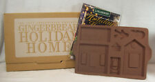 Longaberger Pottery 1997 Gingerbread Holiday Home Mold #34720