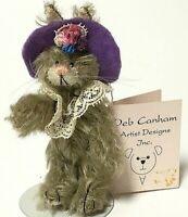 "Deb Canham LADY ASCOT Limited Edition Miniature 4"" Mohair Bunny Rabbit"