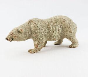 alte Massefigur Tierfigur Eisbär Polarbär Arktis Antarktis Bär Schnee Eis