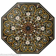 """36""""  Marble Coffee Center Table Top Inlay Pietra dure Art For Home Decor"""