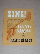 """Ralph Reader """"Songs From The Gang Show"""" 1953 song book"""