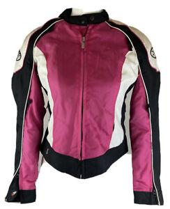 Joe Rocket Womens Small Pink Black White Motorcycle Jacket SIZE S
