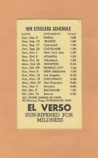 1978 NFL FOOTBALL PITTSBURGH STEELERS GAME POCKET SCHEDULE EL VERSO