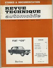 (35A) REVUE TECHNIQUE AUTOMOBILE FIAT 125