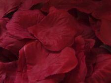100 Silk Rose Petals -deep red  Wedding Birthday  Decoration Confetti  UK Seller
