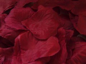 100 Silk Rose Petals dark red Wedding Birthday  valentine Confetti UK Seller
