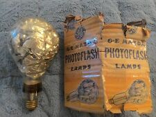 "Ge #75 Mazda 4"" foil filled antique photoflash lamp"