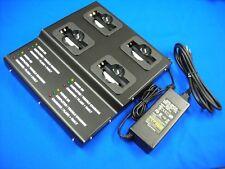 4 Bank Pro Strong Metal Charger(UL/CE)For SIMOCO SRP8000/SRP9000#PA-BATH/BATN...