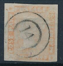 [6882] Mauritius good classic stamp very fine used. Signed. Thin spot