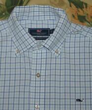 Mens VINEYARD VINES Blue White Classic Fit Whale Shirt Large L