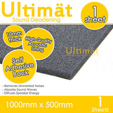 Ultimat 1 Pack Adhesive Sound Proofing Deadening Foam Tiles 1000x500x10mm