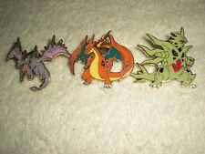 Pokemon Pins: Mega Aerodactyl - Mega Charizard Y - Mega Tyranitar Lot (3)