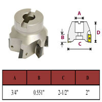 2-1/2'' x 3/4'' 90 Degree Indexable Face Mill Cutter Use APMT APKT CNC machining