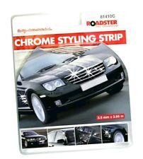 CHROME DETAIL STYLING SELF ADHESIVE STRIP CAR EDGING MOULDING TRIM 3.5MM x3.65MM