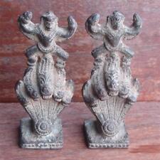 A pair of old Krut(Garuda) catch Naga Statues