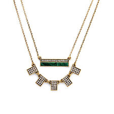 Malachite + Pave Convertible Necklace Individual Pendants Brand Green Landscape