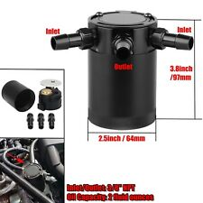 Universal 3-Port Oil Catch/Can/Tank/Reservoir Air-Oil Separator Racing Baffled